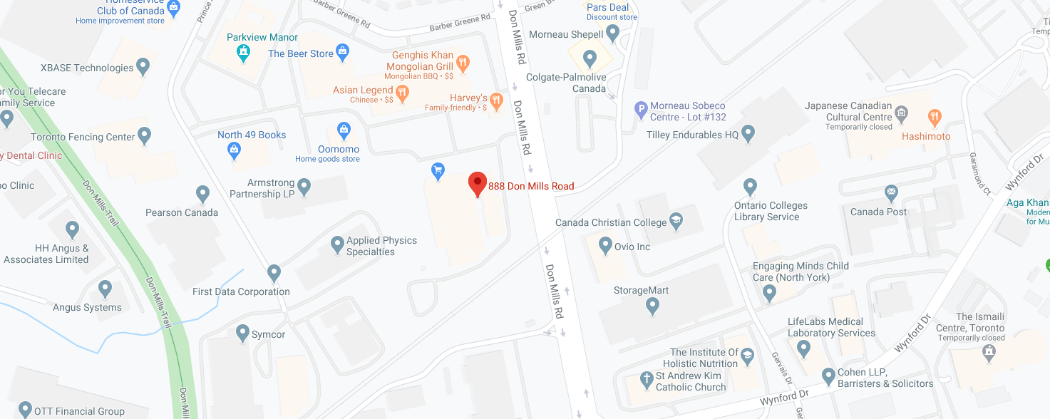 Don Mills Chrysler Dodge Jeep Ram Inc. Location Map